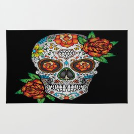 Sugar Skull, Day Of The Dead Rug