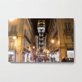 Santa Justa Lift Metal Print