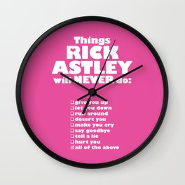 Rick Astley Never Gonna Give You Up Wall Clock