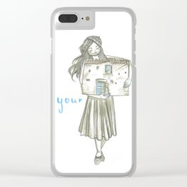 Home is where your heart is Clear iPhone Case