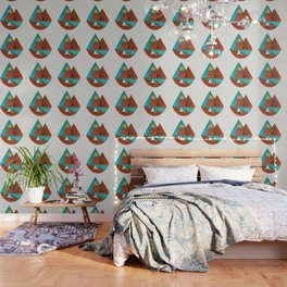Tipi by the River Wallpaper