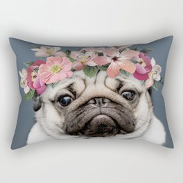 Hippie Pug Rectangular Pillow