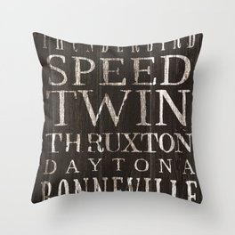 Vintage Triumph Motorcycles Throw Pillow