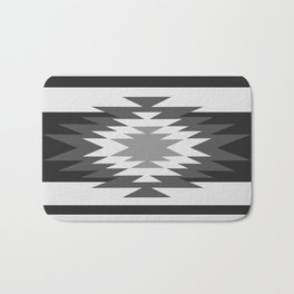 Aztec - black and white Bath Mat