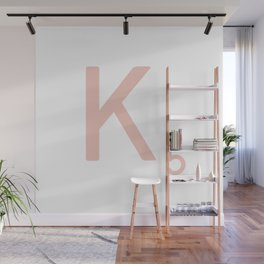 Pink Scrabble Letter K - Scrabble Tile Art and Accessories Wall Mural