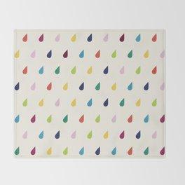 Raindrops Throw Blanket