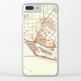 Vintage Map of Newport Beach California (1951) Clear iPhone Case