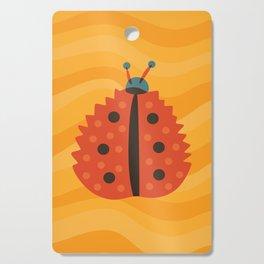 Orange Ladybug Autumn Leaf Cutting Board