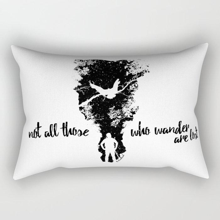 Not Lost Rectangular Pillow