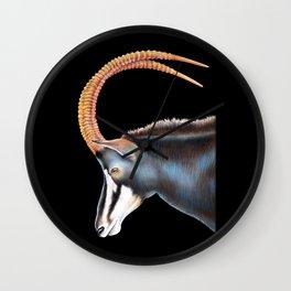 Sable Antelope Wall Clock