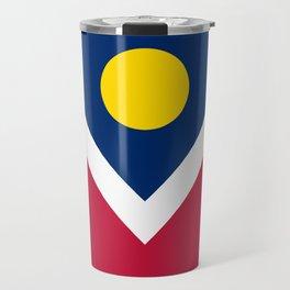 Denver, Colorado city flag - Authentic High Quality Travel Mug