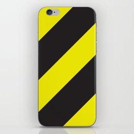 Black and yellow diagonal lines Big iPhone Skin