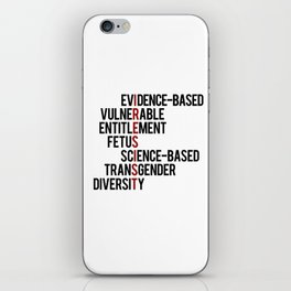 Donald Trump's seven banned words CDC: I RESIST 7 evidence-based vulnerable entitlement fetus iPhone Skin