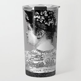 Tattooed Victorian Woman Travel Mug