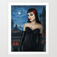 selena Art Prints featuring Selena by Remus Brailoiu