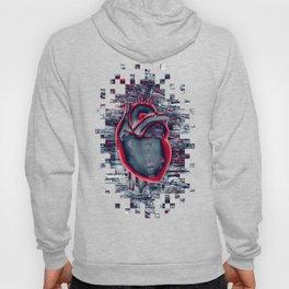 Gamer Heart BLUE CRIMSON / 3D render of mechanical heart Hoody