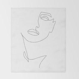 Triple Face Line Throw Blanket