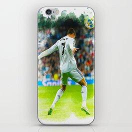 Cristiano Ronaldo celebrates after scoring iPhone Skin