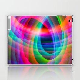 Spirograph rainbow light painting Laptop & iPad Skin