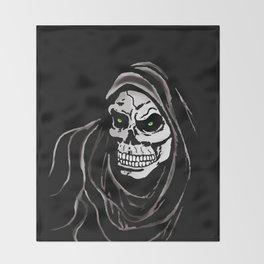Grim Death reaper Halloween death skull horror day Throw Blanket