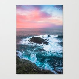 Sunset on the Bay of Biscay Canvas Print