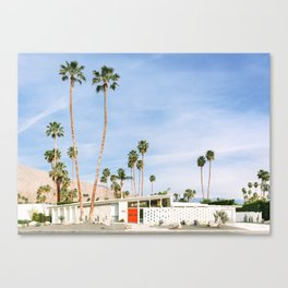 Palm Springs Red Doors Canvas Print