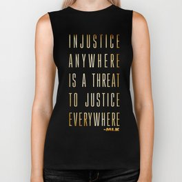 Martin Luther King Typography Quotes Biker Tank