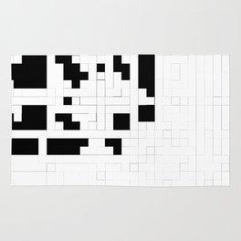 Monochrome Pixels Rug