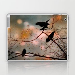 Rainy Day Crows Laptop & iPad Skin