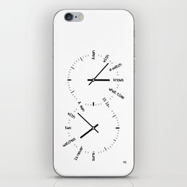 Two Watches iPhone Skin