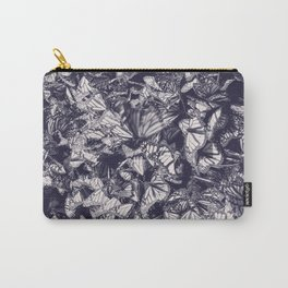 Indigo butterfly photograph duo tone blue and cream Carry-All Pouch