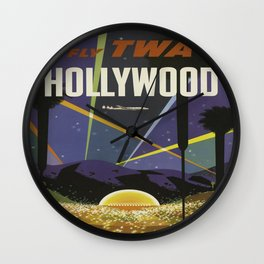 Vintage poster - Hollywood Wall Clock