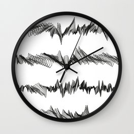 Pattern Collection. Black and White. Pulse. Wall Clock