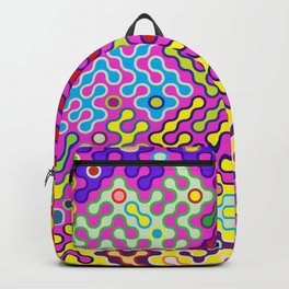 Abstract Psychedelic Pop Art Truchet Tile Pattern Backpack