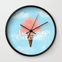 Happiness Condensed Wall Clock