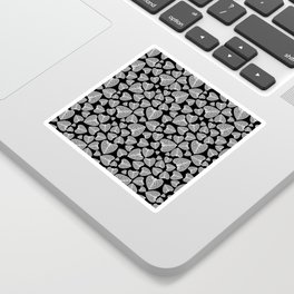 Black White Pattern Sticker