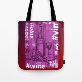 Hashtag Wine Tote Bag