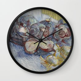 Red Cabbages and Onions Wall Clock