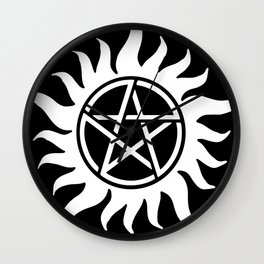 Anti Possession Sigil White Wall Clock