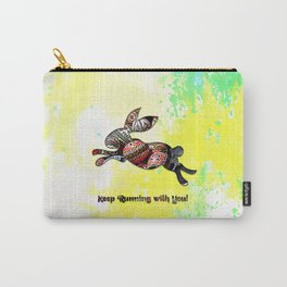 Happy Easter Rabbit - Keep Runing with You Carry-All Pouch