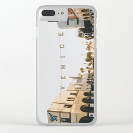 venice / los angeles, california Clear iPhone Case