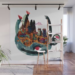 Wold in my back Wall Mural