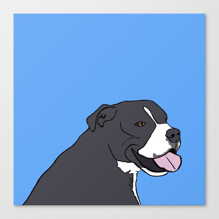 Cash The True Bluenose Pit Bull Canvas Print