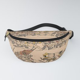 Armies of men and horses are retreating. Coloured lithograph. Fanny Pack