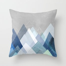 Graphic 107 X Blue Throw Pillow