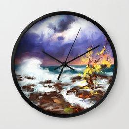 Coming storm Wall Clock