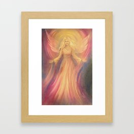 Angel Light Love - Spiritual painting Framed Art Print