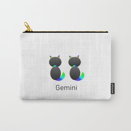 Twin Gemini Cats Carry-All Pouch