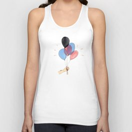 Up with the balloons Unisex Tank Top