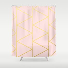 Pink Deco Shower Curtain